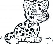 Coloriage dessin  Tigre 4