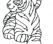 Coloriage et dessins gratuit Tigre se repose à imprimer