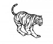 Coloriage et dessins gratuit Tigre vecteur à imprimer