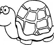 Coloriage et dessins gratuit Tortue avec le regard humoristique à imprimer