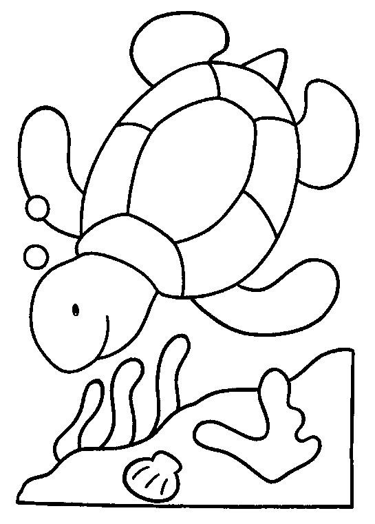 Coloriage tortue dans la mer dessin gratuit imprimer - Tortue a colorier ...