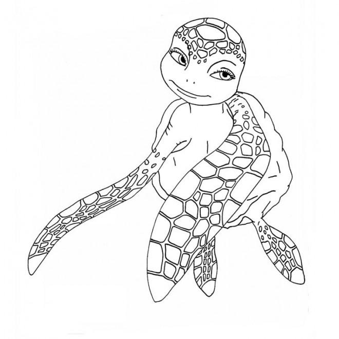 Coloriage Tortue de mer dessin gratuit à imprimer