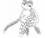 Coloriage et dessins gratuit Tortue de mer amoureuse à imprimer