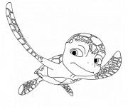 Coloriage et dessins gratuit Tortue de mer en nageant à imprimer