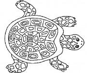 Coloriage et dessins gratuit Tortue mandala à imprimer