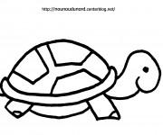 Coloriage et dessins gratuit Tortue pour enfant à imprimer