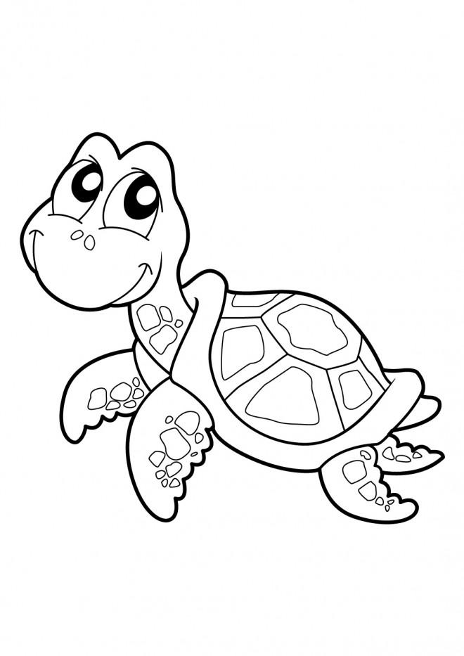 Coloriage tortue souriante dessin gratuit imprimer - Tortue a colorier ...