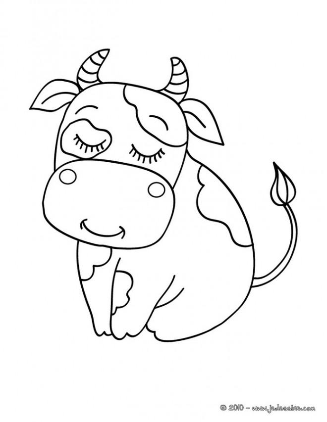 Coloriage Vache gratuit à imprimer