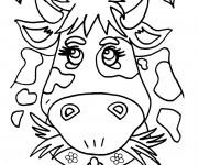 Coloriage Dessin de vache décorée