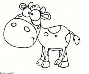 Coloriage et dessins gratuit Dessin de vache souriante à imprimer