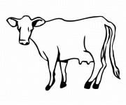 Coloriage Dessin vache sur ordinateur