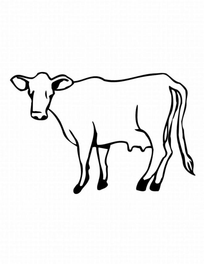 Coloriage et dessins gratuits Dessin vache sur ordinateur à imprimer