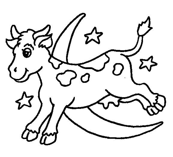 Coloriage et dessins gratuits La vache en volant à imprimer