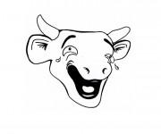 Coloriage La vache qui pleure