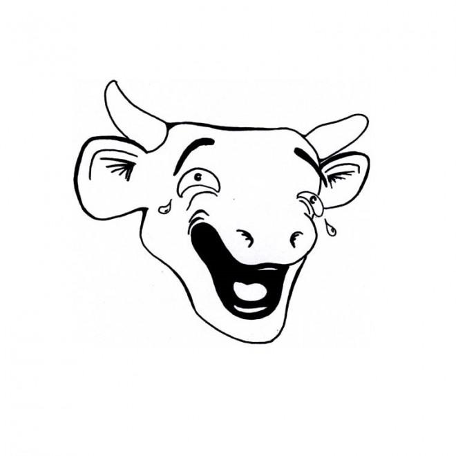 Coloriage et dessins gratuits La vache qui pleure à imprimer