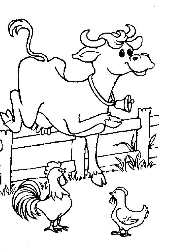 Coloriage et dessins gratuits La vache se promène à imprimer