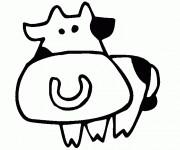 Coloriage dessin  Vache 11