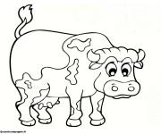 Coloriage dessin  Vache 14