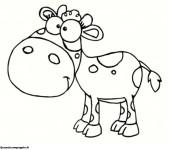 Coloriage dessin  Vache 15