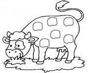 Coloriage dessin  Vache 6