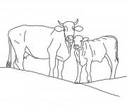 Coloriage dessin  Vache 8