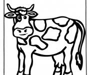 Coloriage Vache amusée