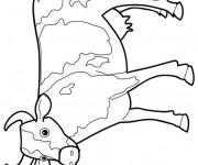 Coloriage Vache dessin magique