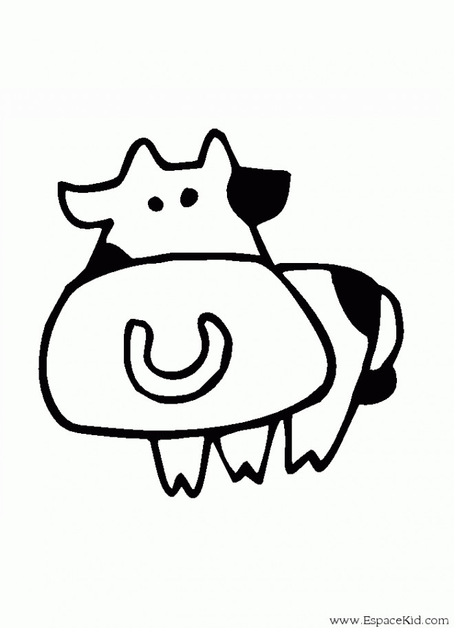 Coloriage et dessins gratuits Vache dessin pour enfant à imprimer