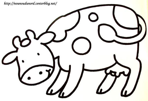 Coloriage Vache En Baissant La Tête Dessin Gratuit à Imprimer