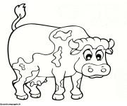 Coloriage et dessins gratuit Vache en couleur à imprimer