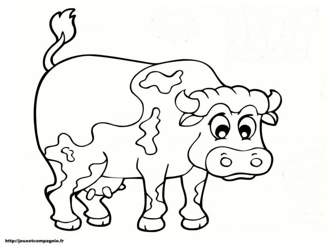 Coloriage et dessins gratuits Vache en couleur à imprimer