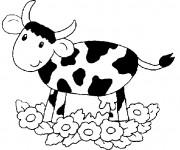 Coloriage Vache en noir et blanc