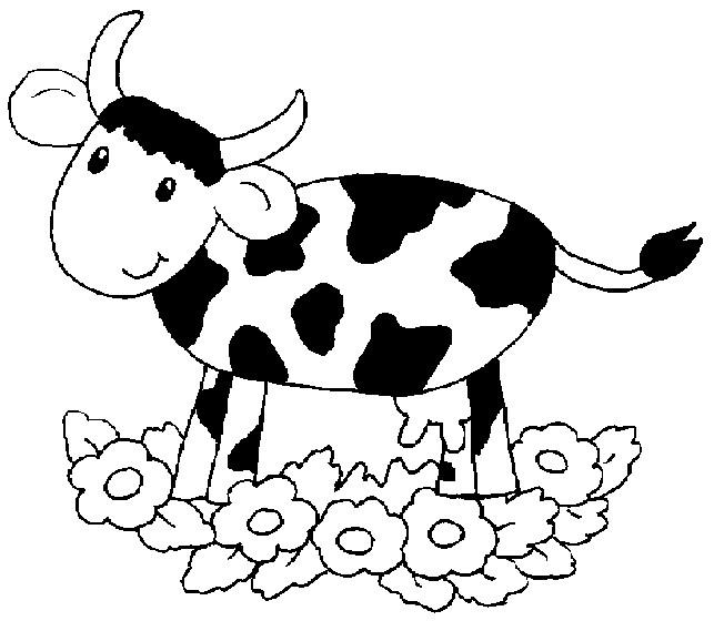 Vache à Et Imprimer Blanc Dessin Fkj13tlc Coloriage Gratuit