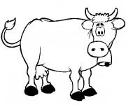Coloriage et dessins gratuit Vache étonnée à imprimer