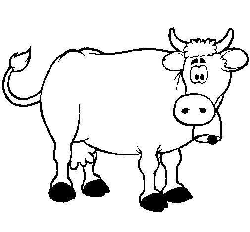 Coloriage et dessins gratuits Vache étonnée à imprimer