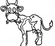 Coloriage et dessins gratuit Vache maigre à imprimer