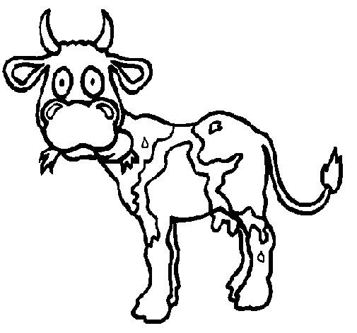 Coloriage et dessins gratuits Vache maigre à imprimer
