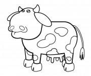 Coloriage Vache peluche