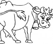 Coloriage Vache portant clochette