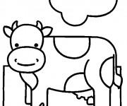 Coloriage Vache pour enfant