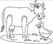 Coloriage Vache riante