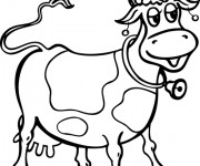 Coloriage Vache souriante
