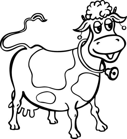 Coloriage et dessins gratuits Vache souriante à imprimer