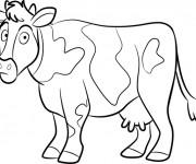 Coloriage Vache te regarde
