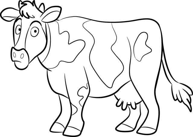 Coloriage et dessins gratuits Vache te regarde à imprimer