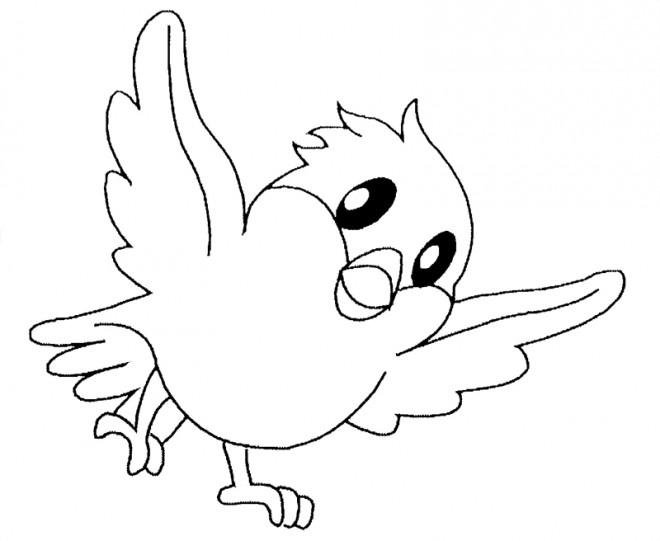 Coloriage et dessins gratuits Bébé Vautour à imprimer