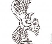 Coloriage dessin  Vautour 12