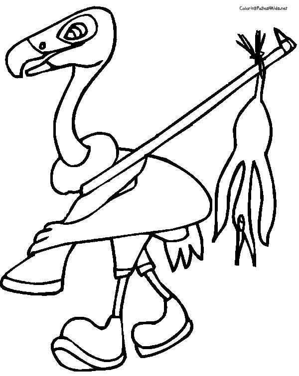 Coloriage et dessins gratuits Vautour chasseur à imprimer