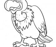 Coloriage Vautour dessin animé
