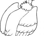 Coloriage et dessins gratuit Vautour en noir et blanc à imprimer